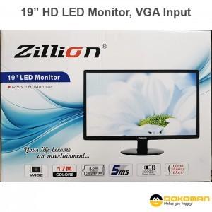 Zillion 19″ HD LED Monitor 16:9, VGA Input